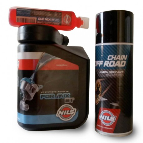 Pack Aceite Mezcla 2T + Aditivo + For Chain