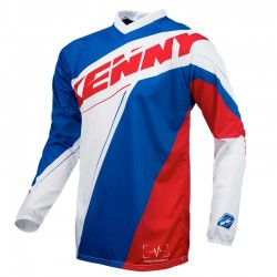 Polera MX Kenny Performance Azul / Blanco / Rojo
