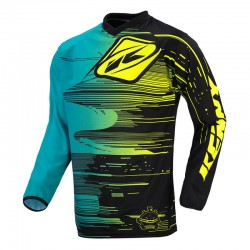 Polera MX Kenny Performance Aqua Yellow