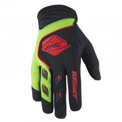 Guantes Kenny Track Negro Verde Rojo